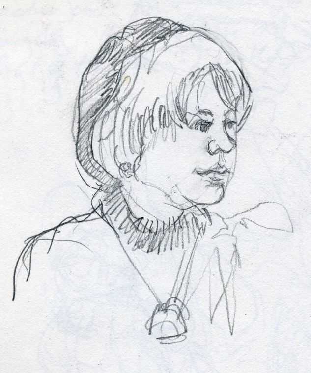 Ruth - Pencil/paper - 7 x 10 inches