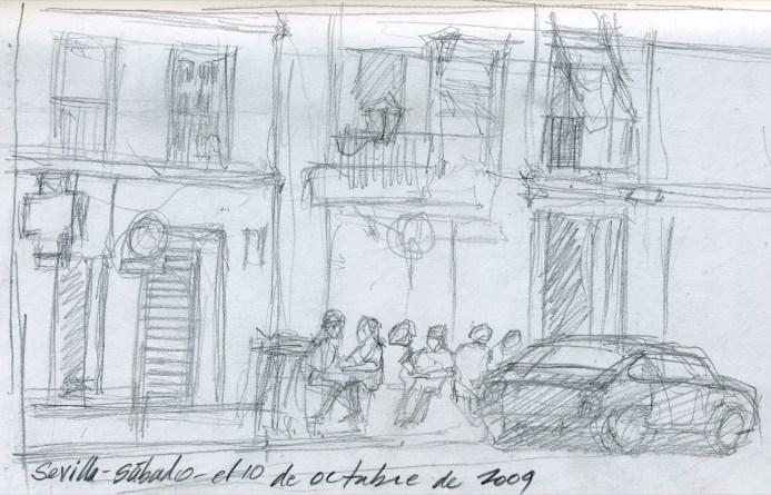 Sevilla Street - Pencil/paper - 5 x 7 inches