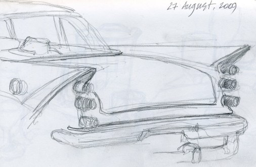 Tailfins - Pencil/paper - 5 x 7 inches
