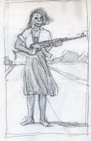 War Sketch 3 - Pencil/paper - 5 x 7 inches