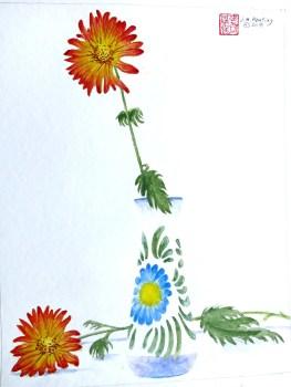Daisy - Watercolor - 7 x 11 inches