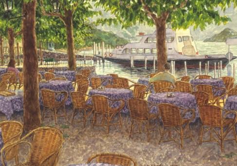 Bellagio - Watercolor - 10 x 14 inches