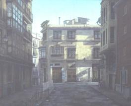 Calle Cabelleros - Oil/canvas - 26 x 32 inches