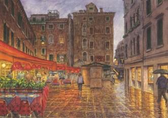 Venice - Watercolor - 10 x 15 inches
