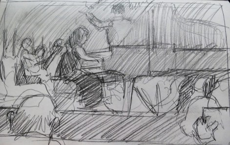 Concert Pianist- Pencil/paper - 5 x 8 inches