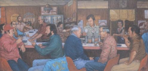 Bill's Tap - Oil/canvas - 24 x 48 inches