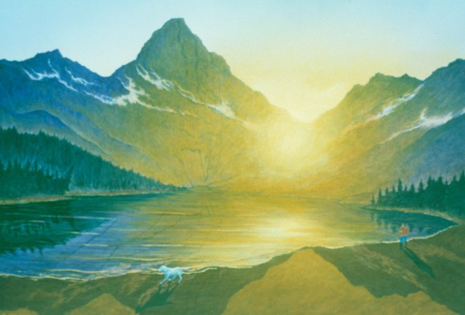 Lone Walker Mountain - Acrylic/masonite - 36 x 48 inches