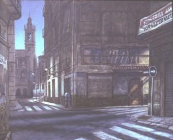 Noche Valencia - Oil/canvas - 26 x 32 inches