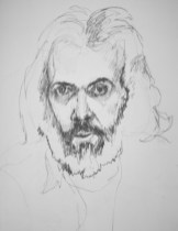 Self Portrait Years Ago - Charcoal/paper - 18 x 24 inches