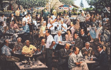 Napa Valley Vintners - Oil/canvas - 7 x 10 feet