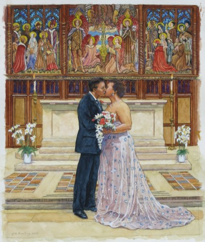 The Wedding - Watercolor - 21 x 29 inches