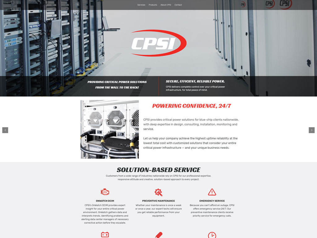 CPSI Website Screenshot