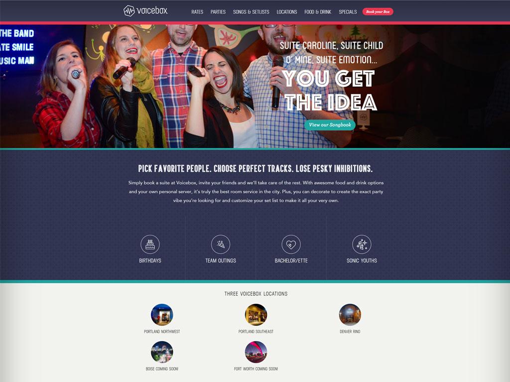 Voicebox Website Screenshot