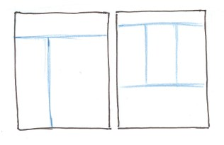 Sketch composition format lines into the background of your journal page.
