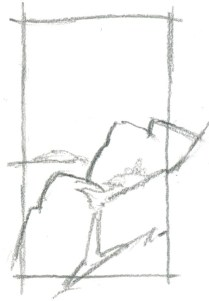 """Add a frame over part of the drawing. """"Breaking the frame"""" is a great way to suggest that the drawing extends beyond what you drew."""