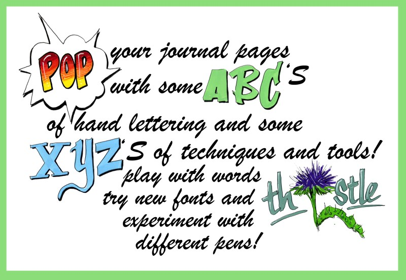 Creative Lettering for Nature Journaling (video)