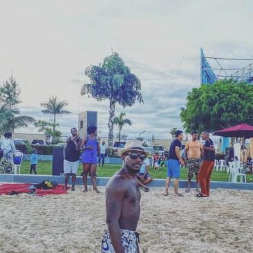 White sand beach Entebbe.