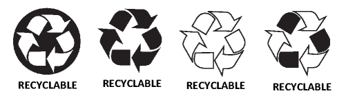 Recyclable logos