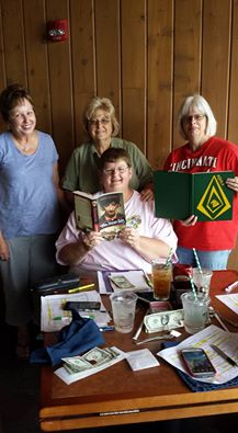 Former high school classmates Shirley, Judy, Denise, & Karen at Deer Creek State Park Lodge