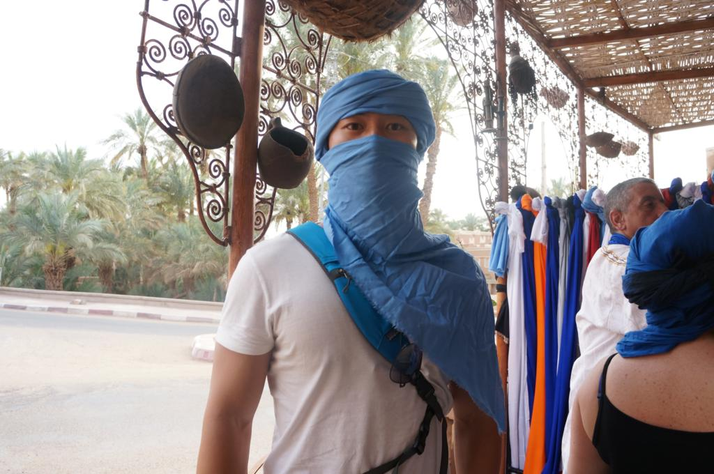 Dressing up in Touareg Blue!