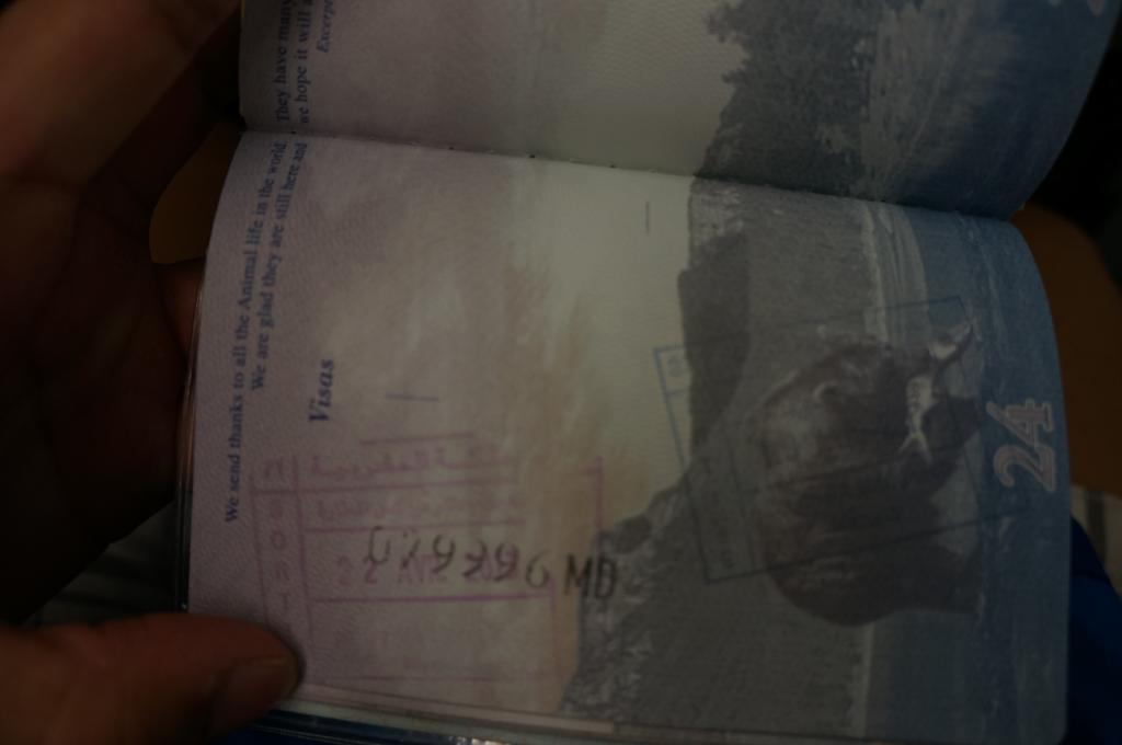 Passport stamp morocco