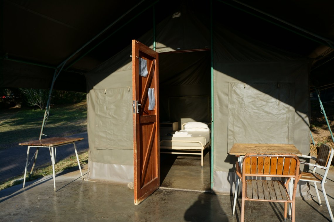Permanent tents in the Kruger