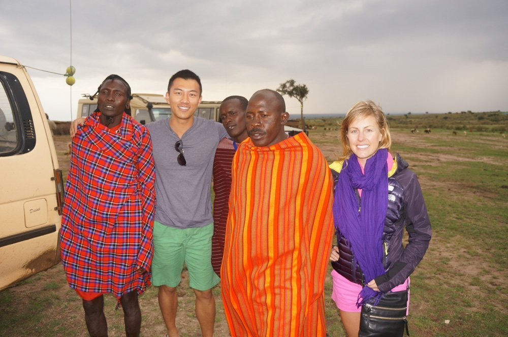 Pic with the Masai