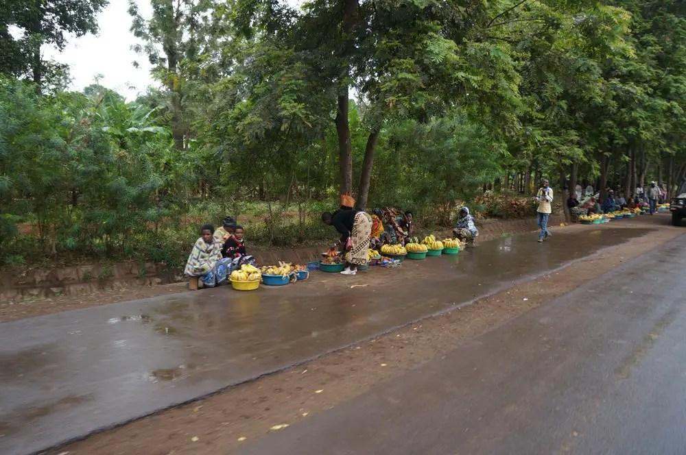 banana tanzania roadside
