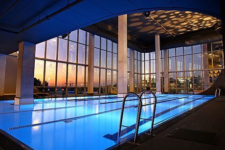 Virgin Active Alice Lane. Pool with a view.