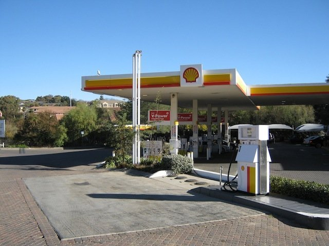 Shell station in town.