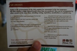 How to speak South African San. Who the hell knew there were so many ways to click?