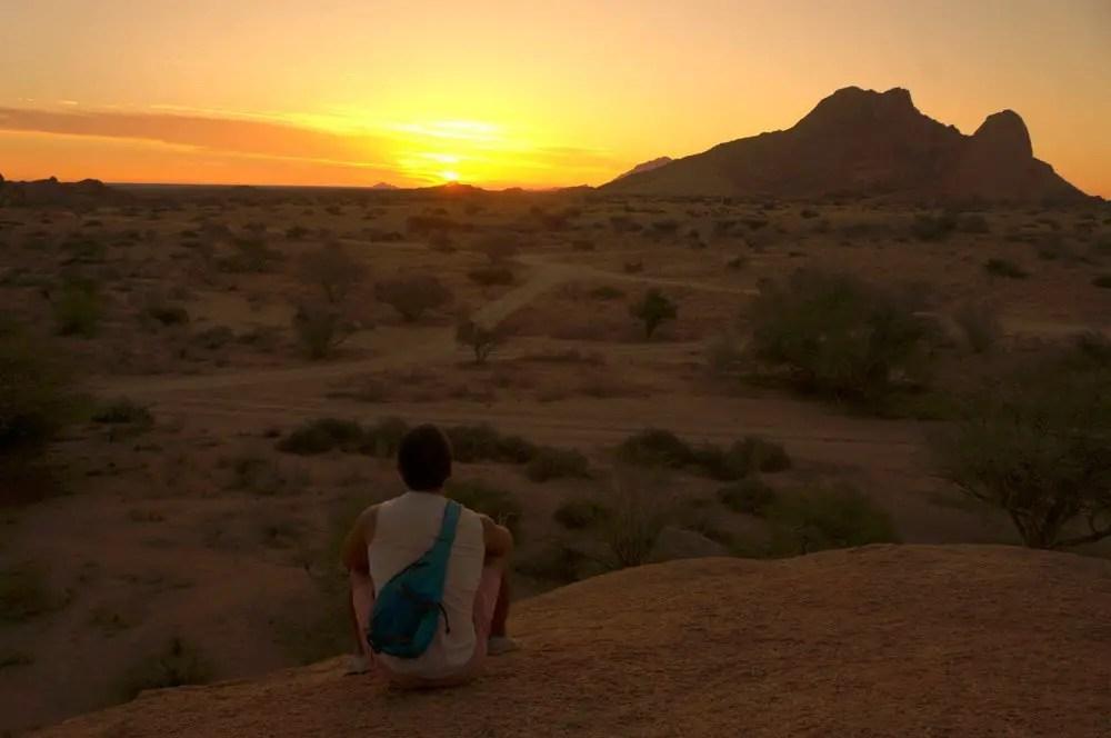 spitzkoppe sunset namibia