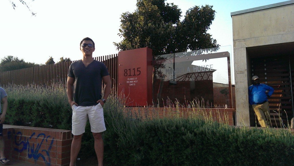 Outside of Mandela's place