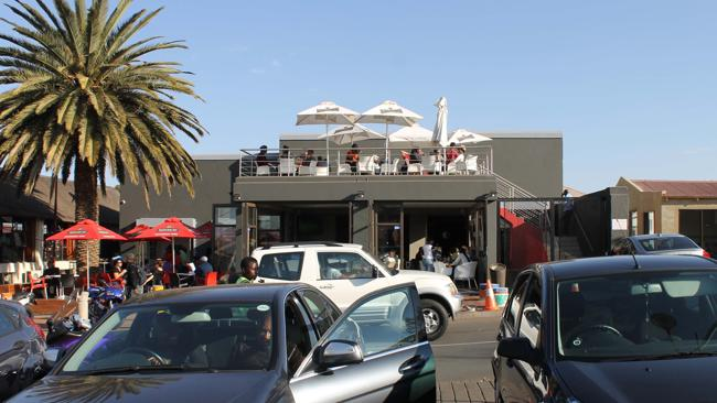Vilakazi street, home of Mandela's house and fancy bars.