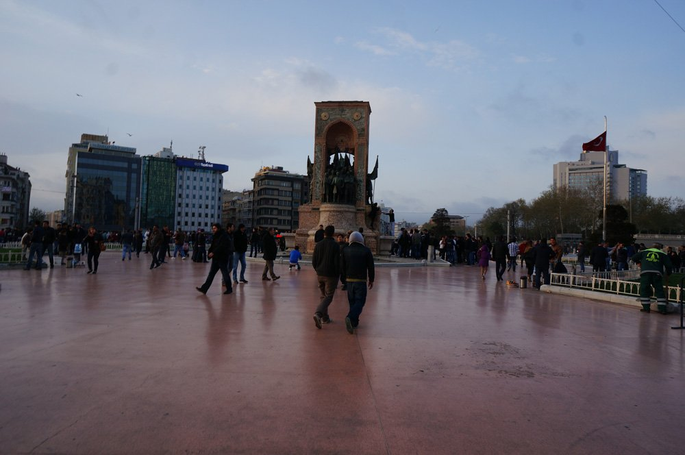 Taksim Square, our first stop after the airport.