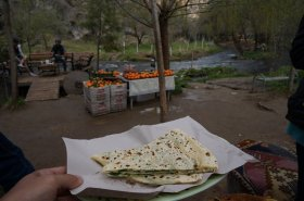 A pitstop along the Ihlara valley hike. This was the best Gozleme pancake we had the entire trip!