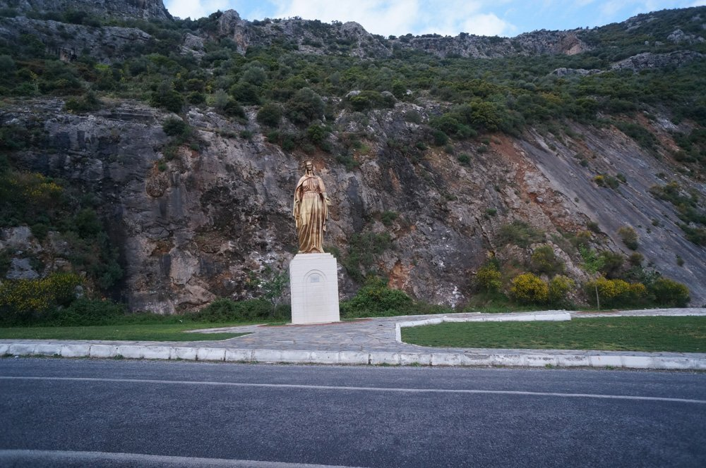 The giant statue of Artemis on the drive to the House of Mary.