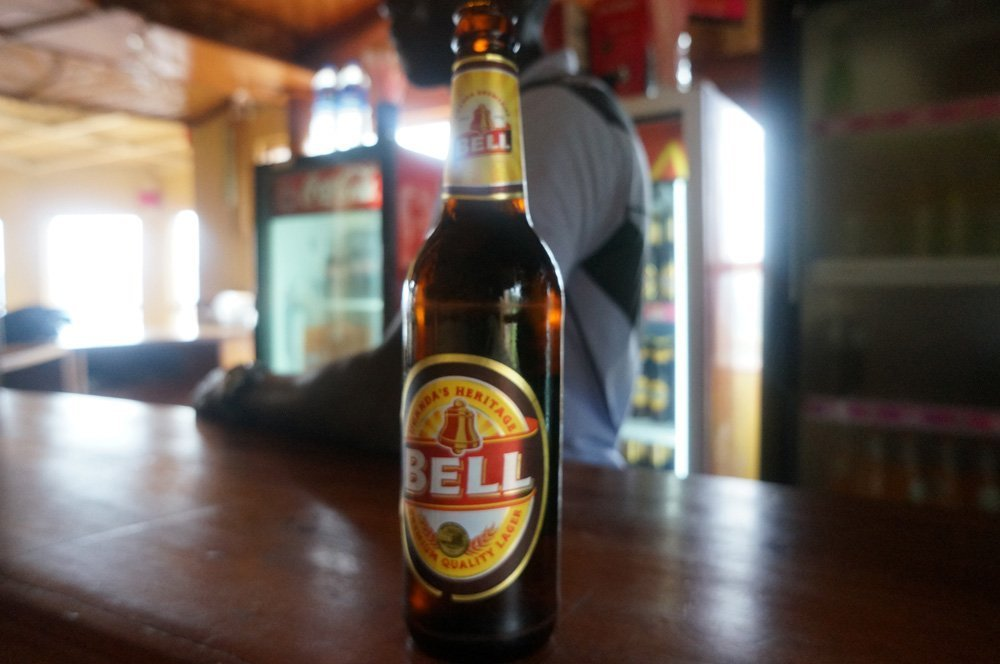 Bell, one of Uganda's many beers.