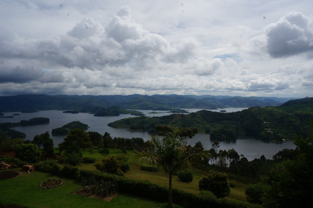 The beautiful scenery of Lake Bunyonyi