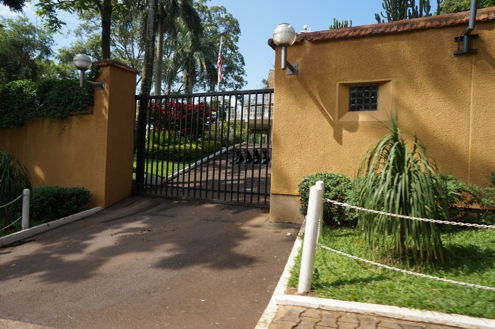 One of the many embassies in Kampala.