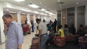 The shitshow at Absa Bank Sandton Branch. Expect nothing to get done when coming here.