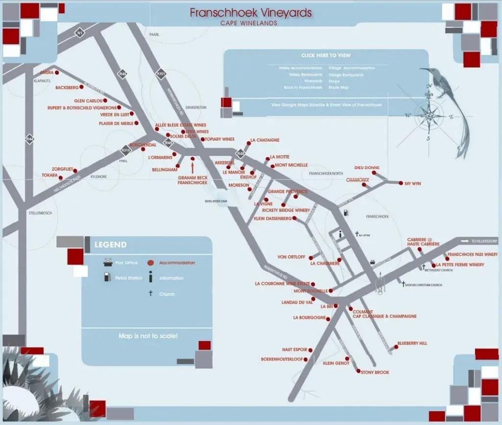 Map of Franschhoek