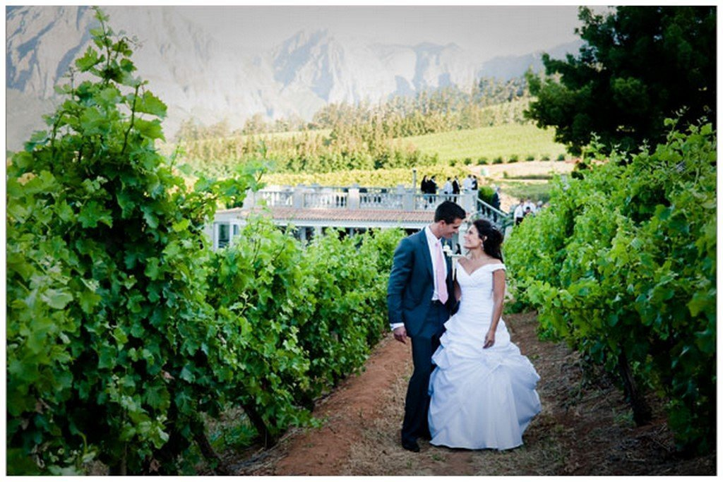 """Like SA's winelands that much? Why not get married? So many wineries offer wedding venues and to us Americans, a wedding at one of these estates would be relatively """"cheap""""."""