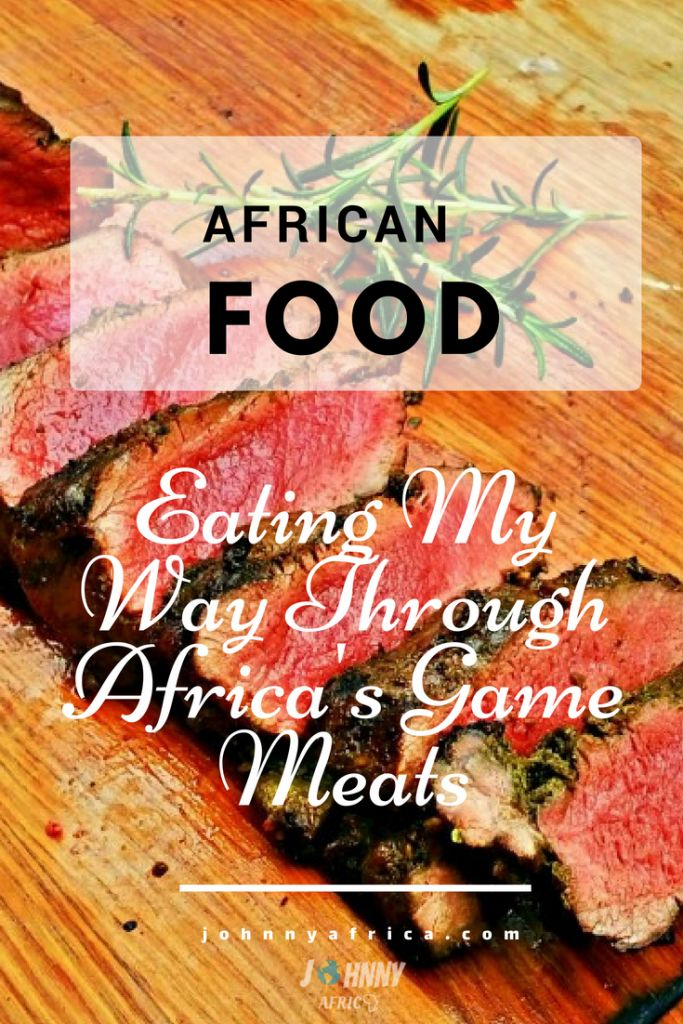 Eating game meats in Africa might not be on everyone\'s list, but it should be. When else are you going to be able to eat some wild kudu or warthogs? Not to mention it\'s healthy and delicious! Apologies ahead of time to Veggies and Vegans. #gamemeats #africanfood #eatinggame #eatingwildanimals #kudumeat #ostrichmeat #springbok
