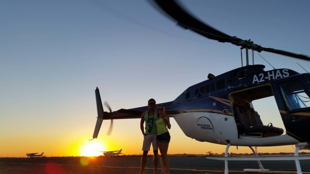 Our helicopter at sunset.
