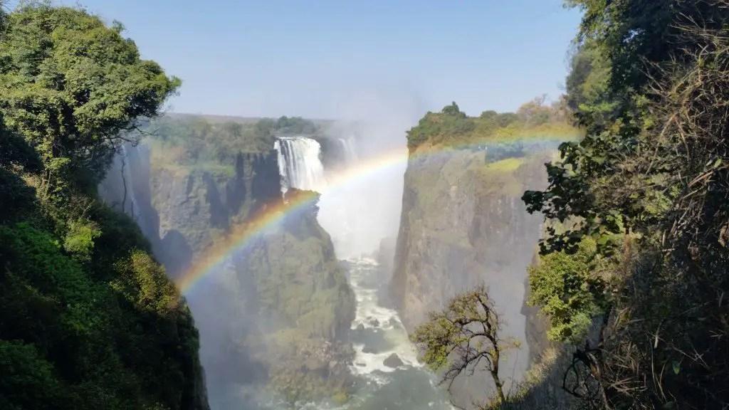 Photobombed by the rainbow