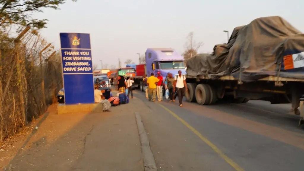 Beginning our walk towards Zambia.