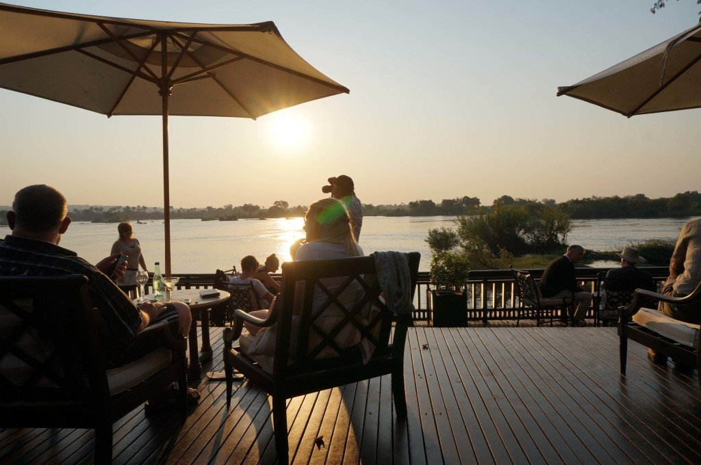 Sundowners at the Royal livingstone