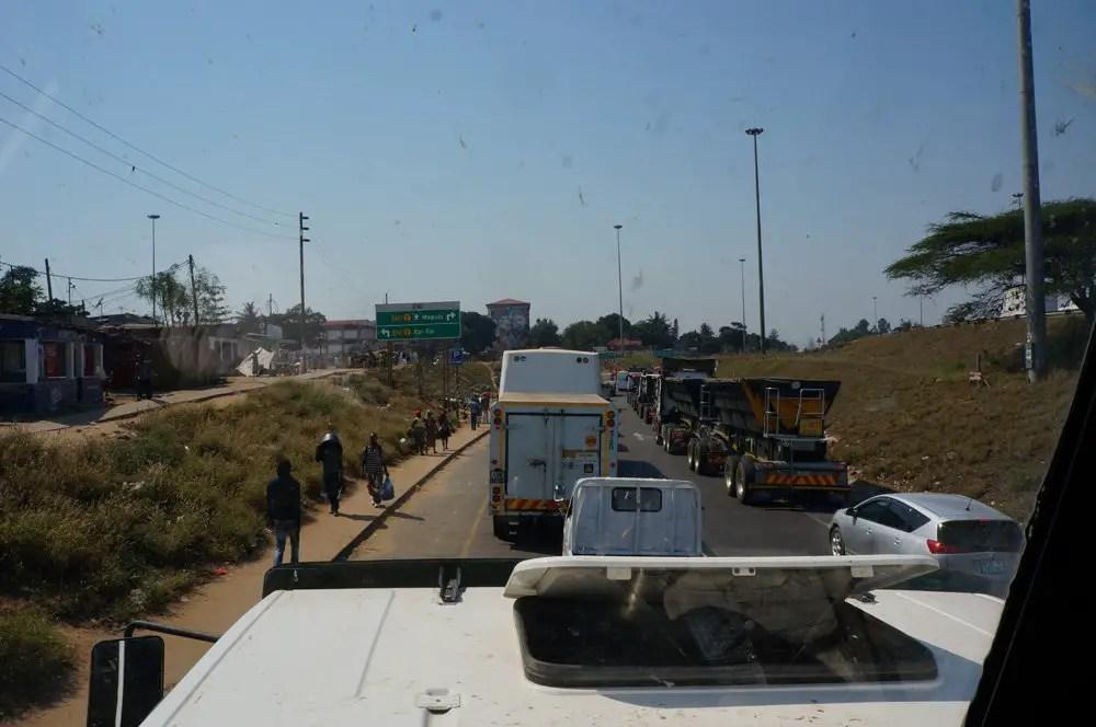 Busy roads in Maputo.