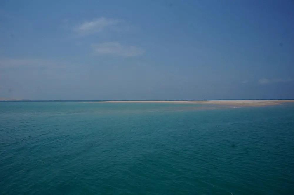 Approaching Bazaruto Island.